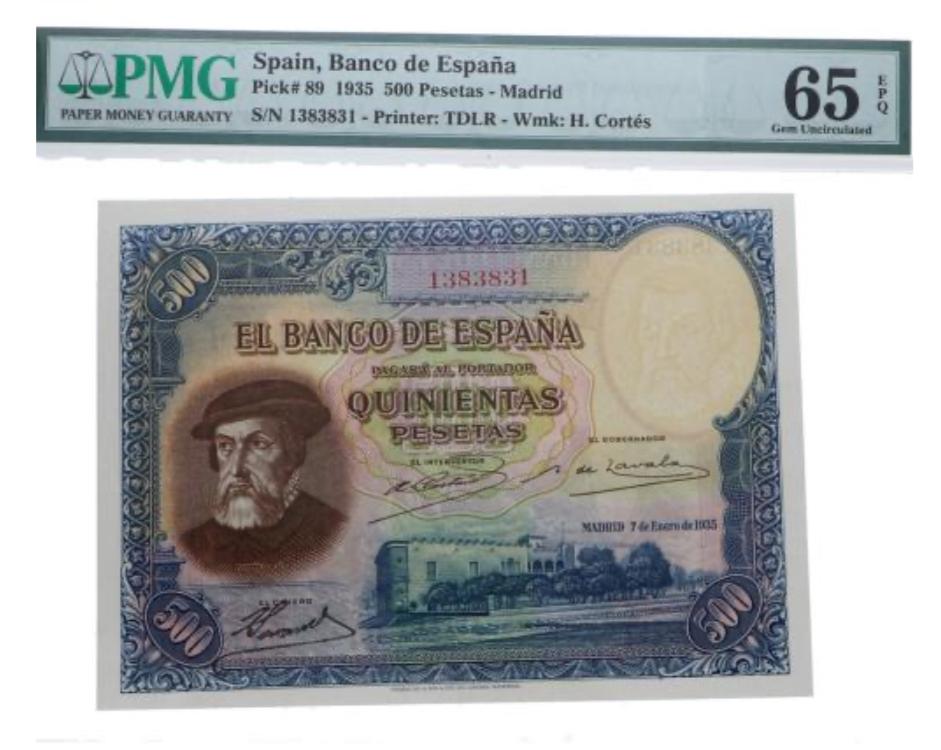 500 PESETAS 1935 CAPICUA A8ed6b10
