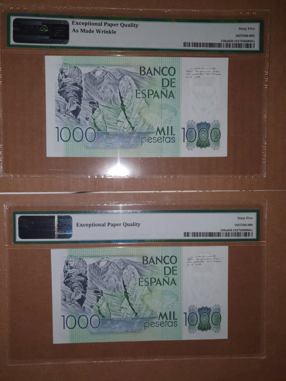 """1000 pesetas 1979 - PAREJA CORRELATIVA """" ÚLTIMA SERIE """" E200ed10"""