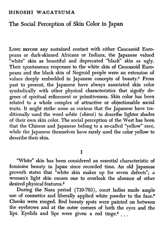 Social Perception of Skin Colour in Japan Percep10