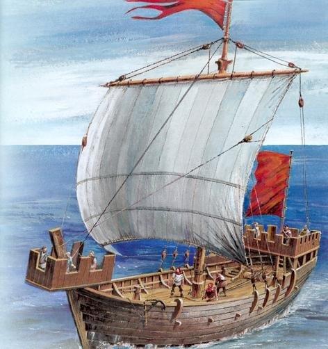 Reconstruction de la Nina (Christophe Colomb - 1492) Cogue11