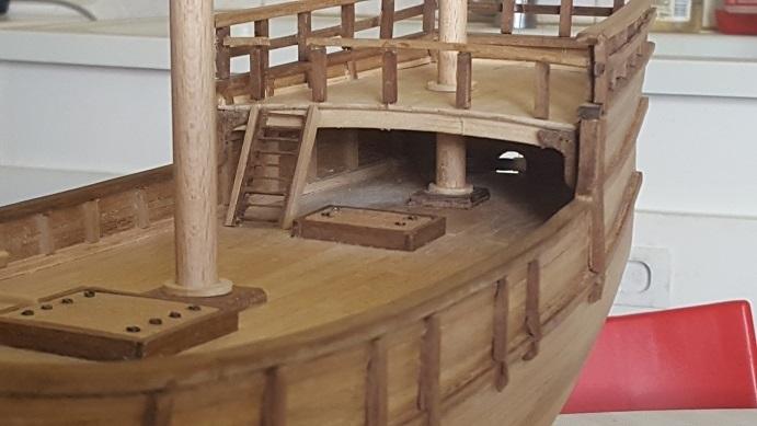 Reconstruction de la Nina (Christophe Colomb - 1492) Coque_25