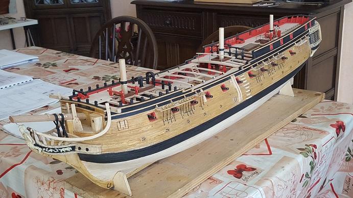 La Confederacy de 1772 au 1/64 par Model Shipways - Page 10 Hauban25