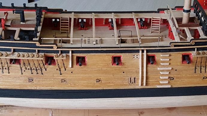 La Confederacy de 1772 au 1/64 par Model Shipways - Page 11 Rambar16