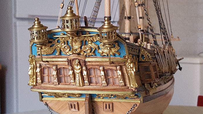 Photos de la Royal Caroline de Panart au 1/47e (Fin de chantier en 2016) Tablea19