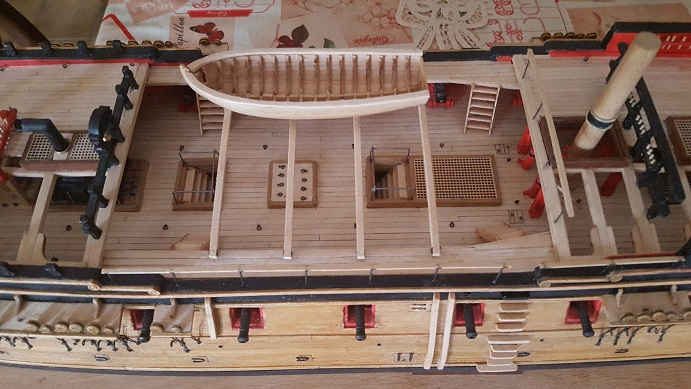 La Confederacy de 1772 au 1/64 par Model Shipways - Page 11 Waist_14
