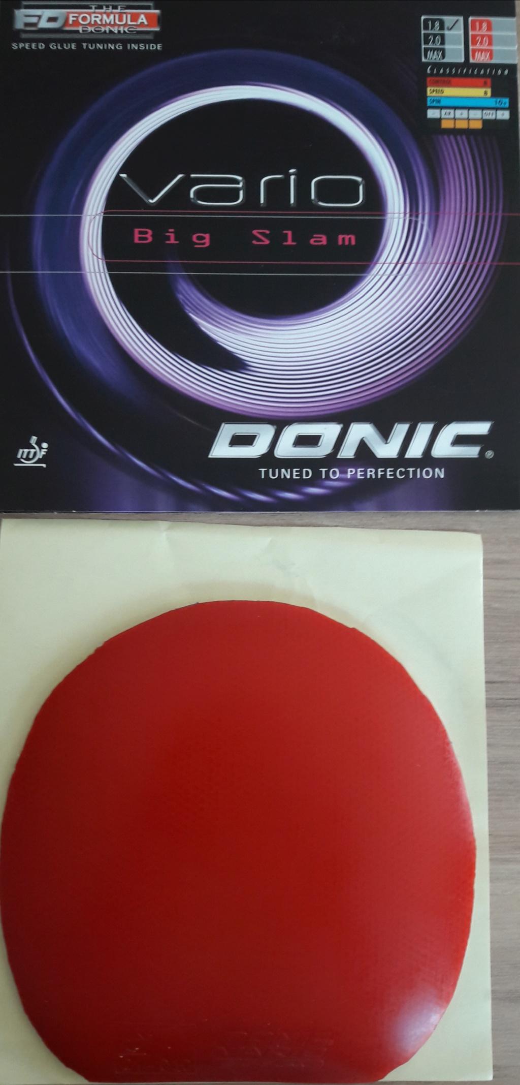 Donic Vario Bigslam rouge 1.8 mm X15.1*Y15.1 14 euros FDPI Variob10