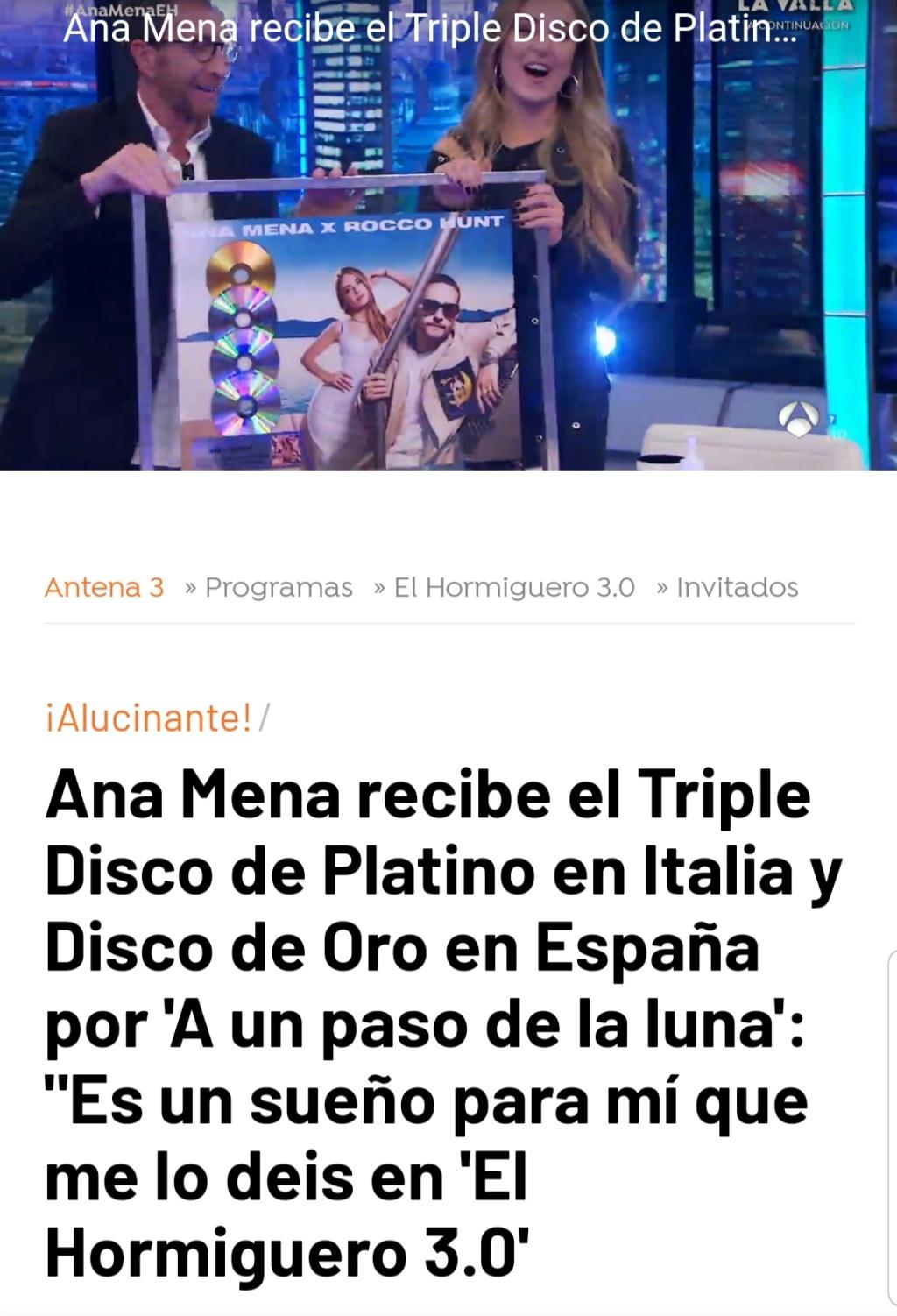 "Ana Mena >> Single ""A un passo dalla luna (Feat. Rocco Hunt)"" - Página 24 20201011"