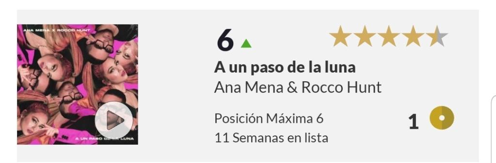 """Ana Mena >> Single """"A un passo dalla luna (Feat. Rocco Hunt)"""" - Página 25 Scree100"""