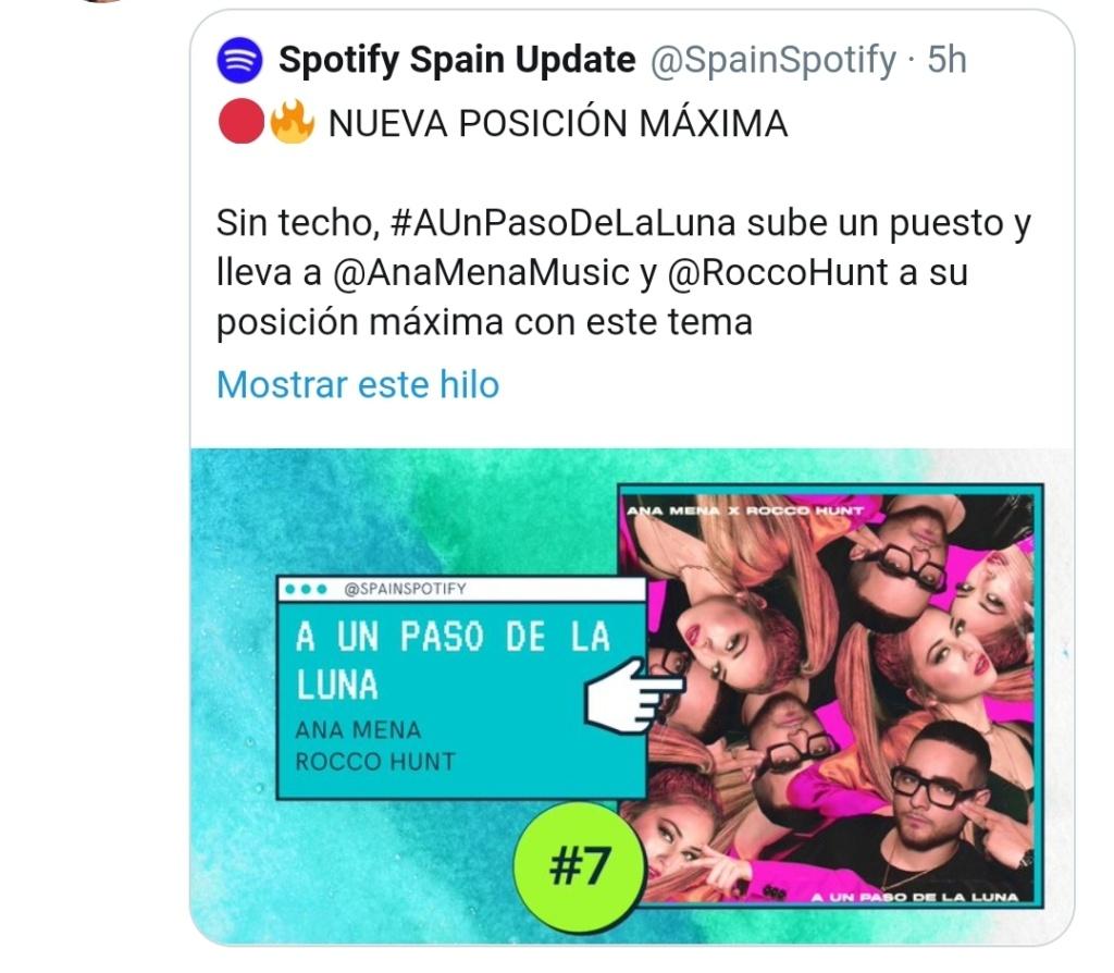 """Ana Mena >> Single """"A un passo dalla luna (Feat. Rocco Hunt)"""" - Página 25 Scree101"""