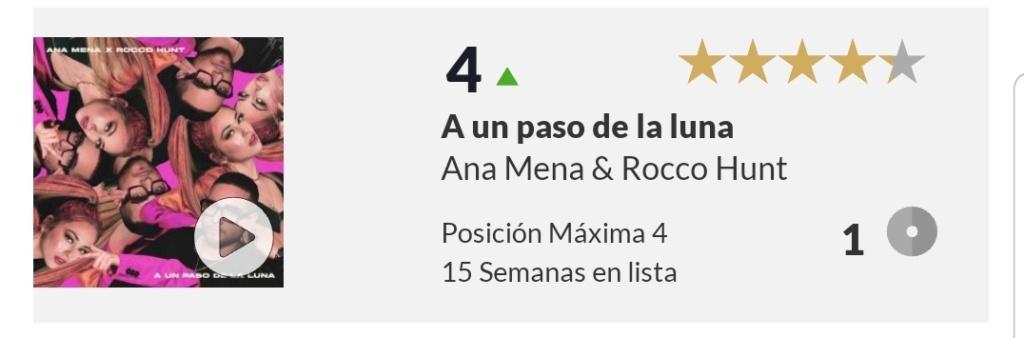 """Ana Mena >> Single """"A un passo dalla luna (Feat. Rocco Hunt)"""" - Página 25 Scree108"""