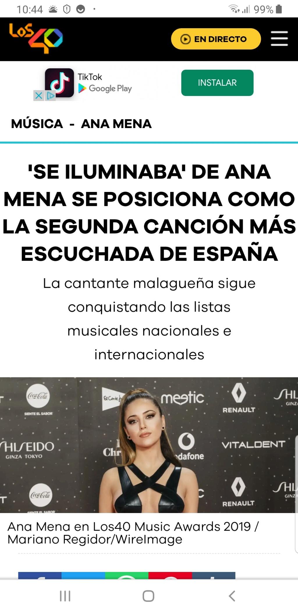 """Ana Mena >> Single """"A un passo dalla luna (Feat. Rocco Hunt)"""" - Página 25 Scree109"""
