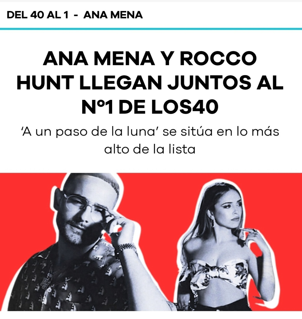 "Ana Mena >> Single ""A un passo dalla luna (Feat. Rocco Hunt)"" - Página 26 Scree111"