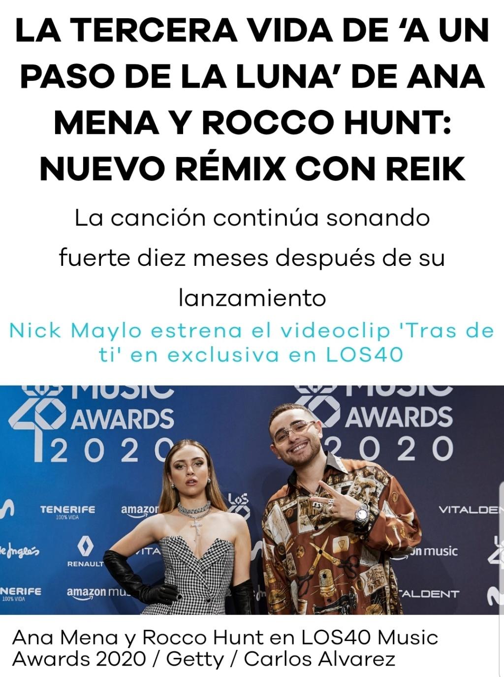 """Ana Mena >> Single """"A un passo dalla luna (Feat. Rocco Hunt)"""" - Página 28 Scree130"""