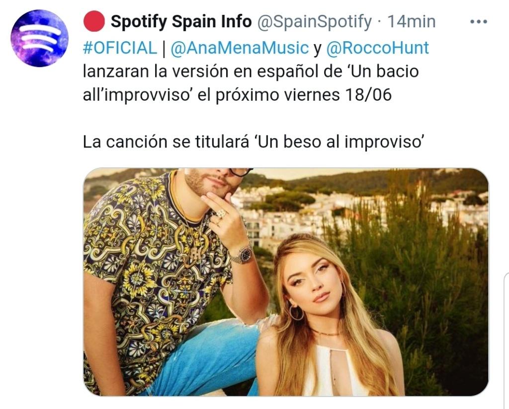 "Ana Mena >> single ""Un bacio All'Improvviso"" (ft. Rocco Hunt) - Página 30 Scree140"