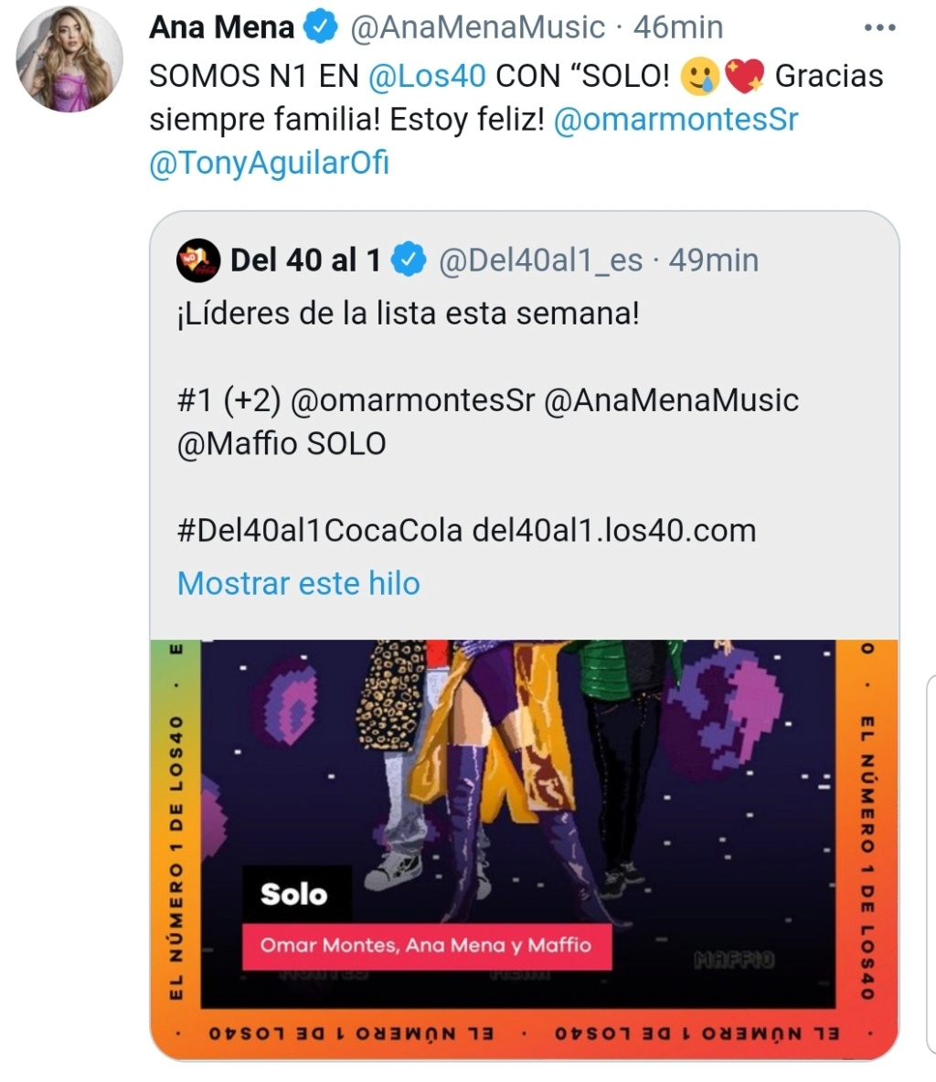 "Ana Mena >> single ""Un bacio All'Improvviso"" (ft. Rocco Hunt) - Página 31 Scree141"