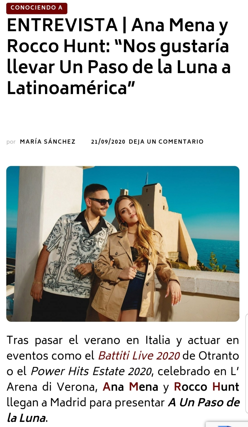 "Ana Mena >> Single ""A un passo dalla luna (Feat. Rocco Hunt)"" - Página 23 Screen87"