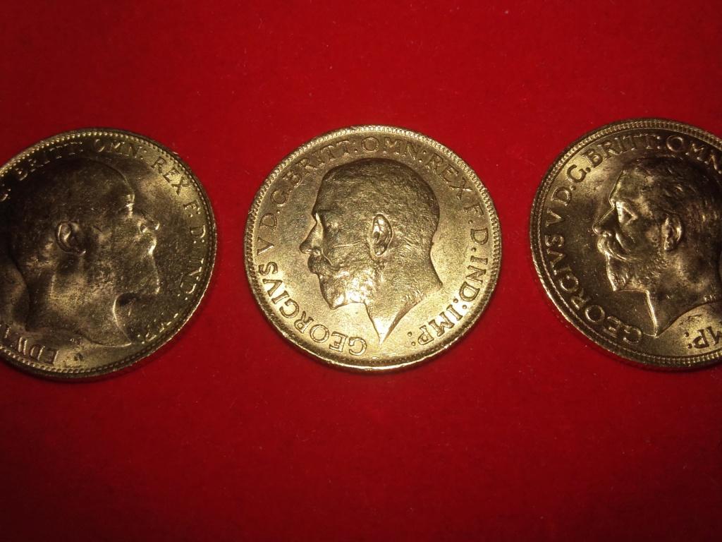 SERIE  de 6 soberanos de oro de la reina Victoria,Edward  VII y George V.  20181224