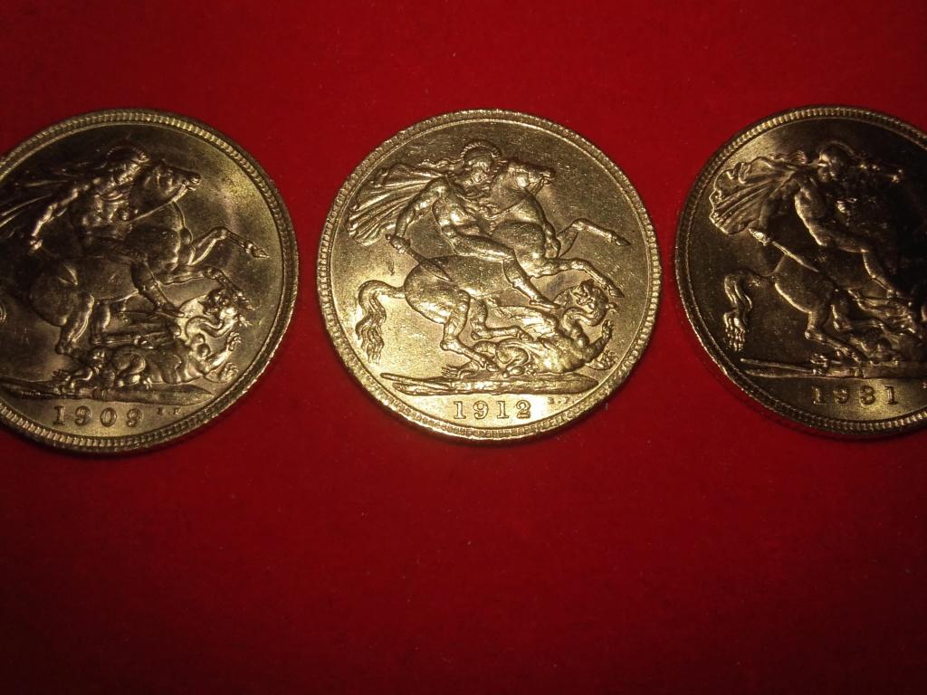 SERIE  de 6 soberanos de oro de la reina Victoria,Edward  VII y George V.  20181225