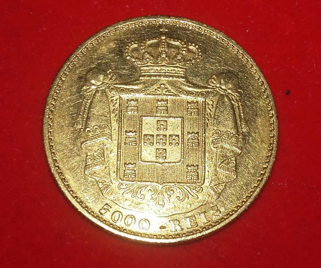 Portugal 5000 reis 1872 Luis I . 20181226