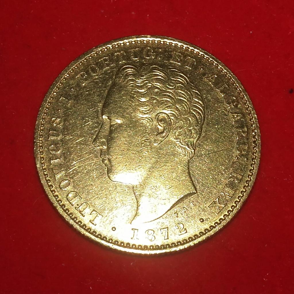 Portugal 5000 reis 1872 Luis I . 20181227