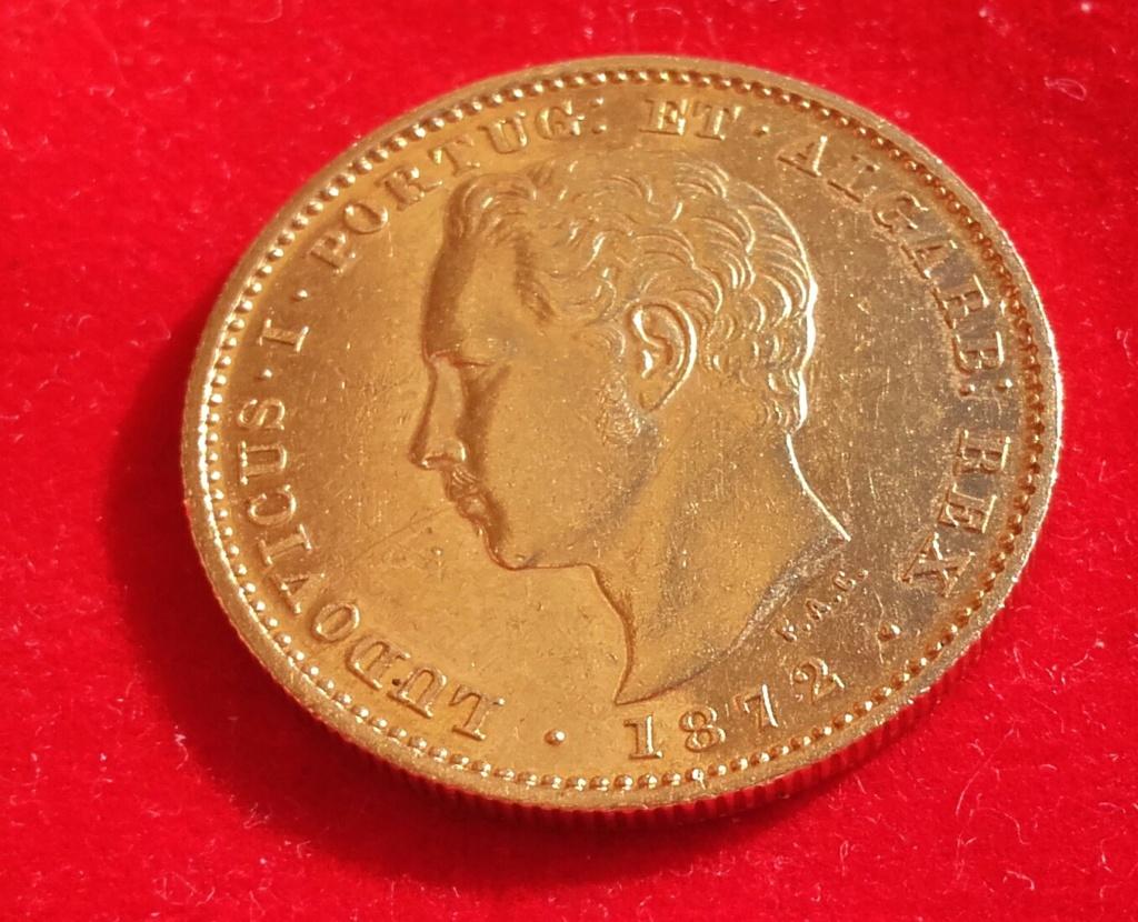 Portugal 5000 reis 1872 Luis I .Foto con luz natural a petición de algún forero. 20181232