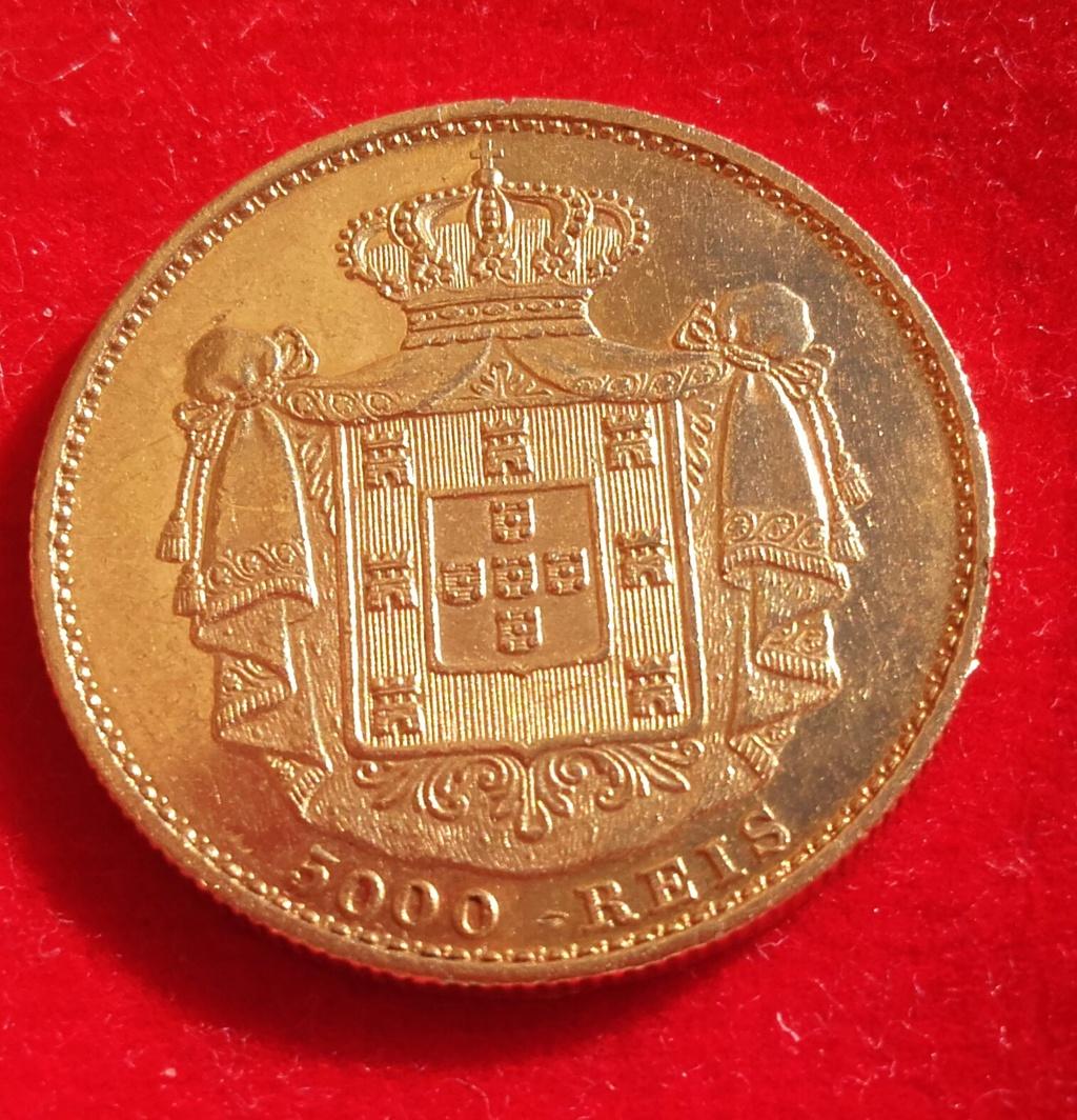 Portugal 5000 reis 1872 Luis I .Foto con luz natural a petición de algún forero. 20181233