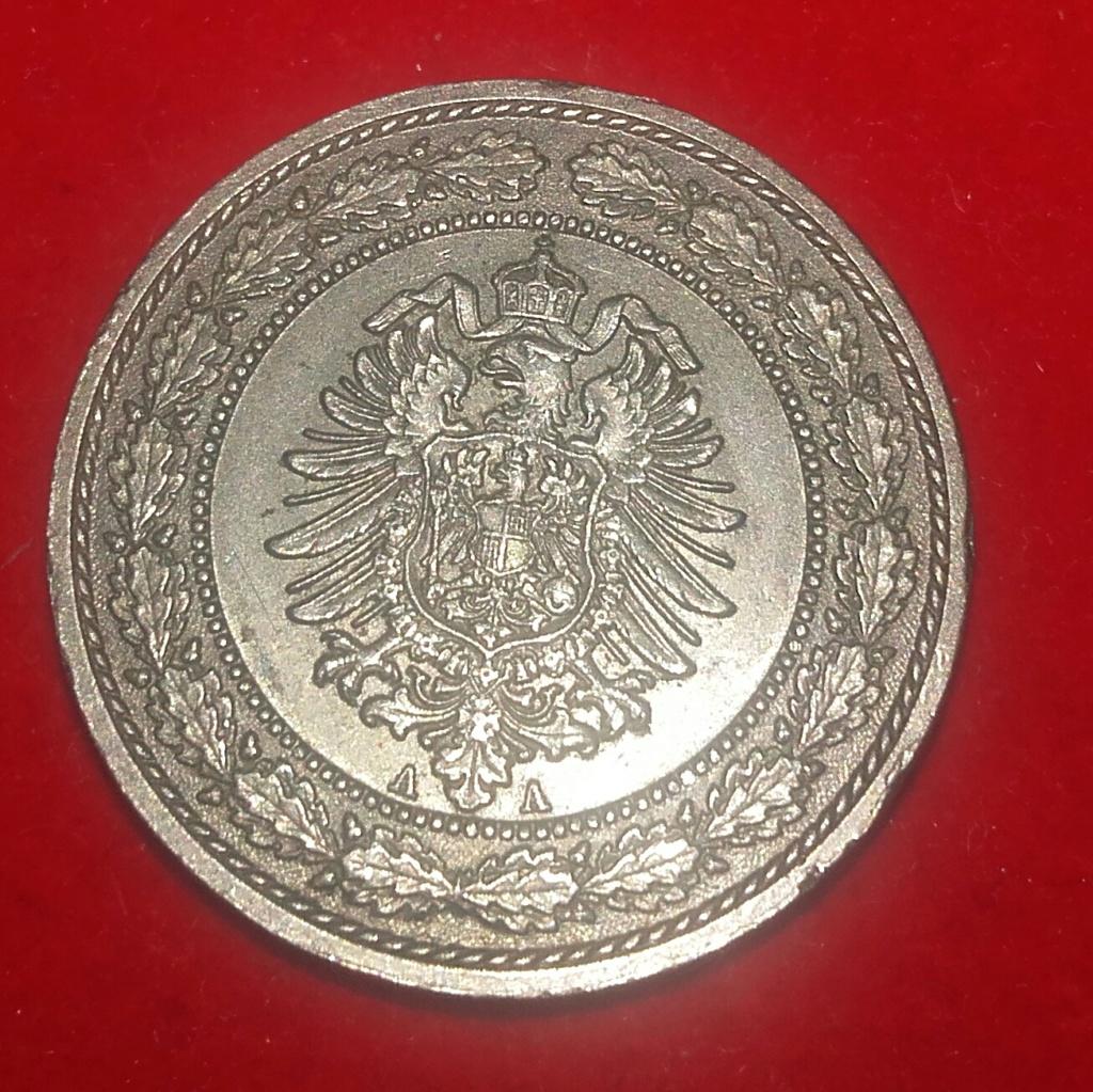 20 Pfennig 1887 A. Imperio Alemán. ...Sin comentarios.... 20181248