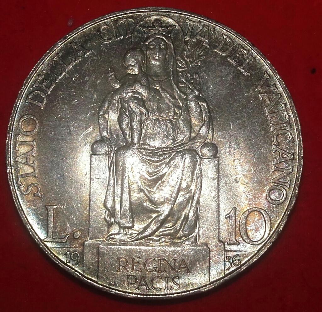 10 Lire 1936 Pio XI (1922- 1939) Flor de cuño. 20181249