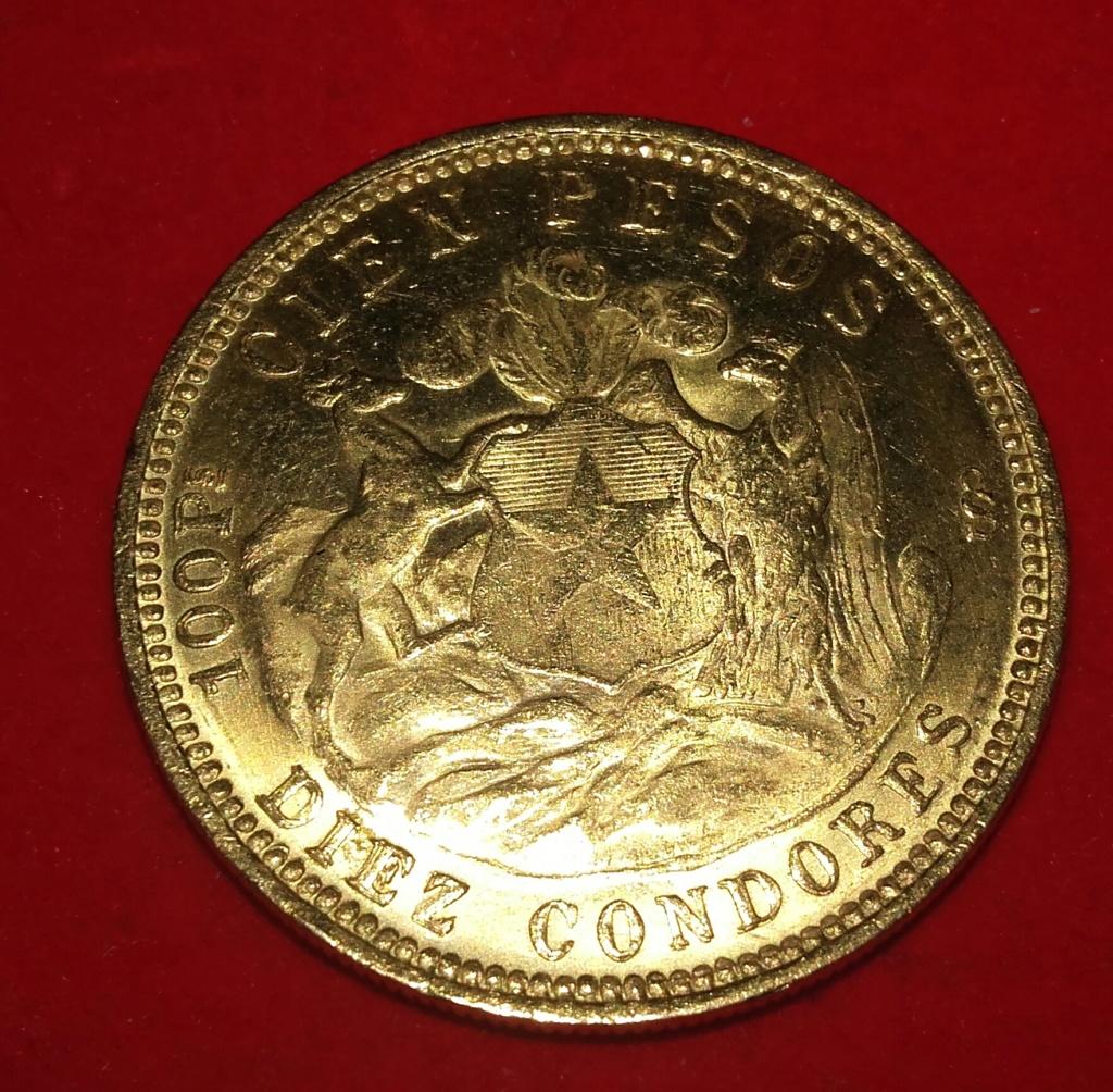 Chile 1936 100 pesos / Diez condores oro .900 20181253