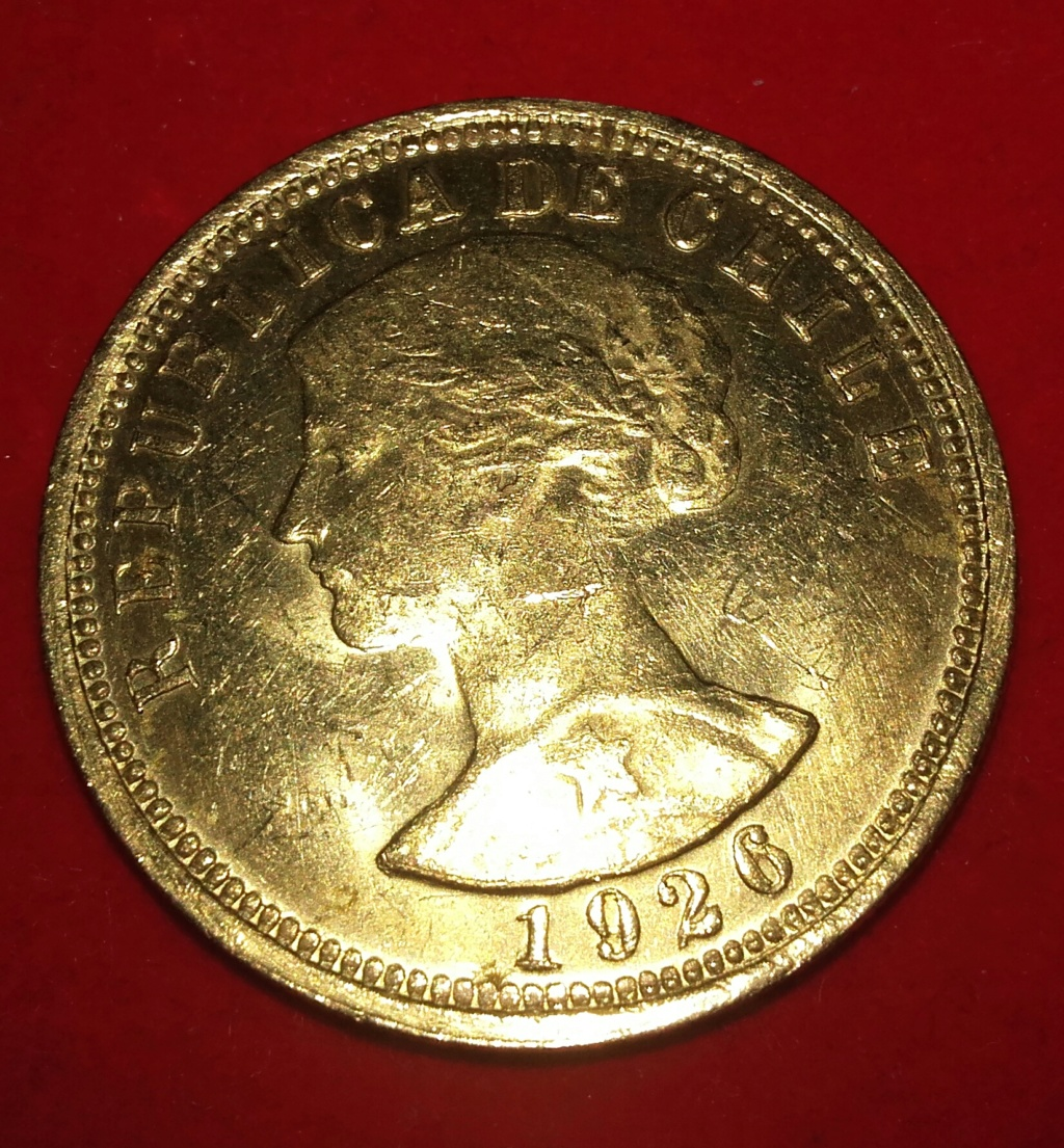 Chile 1936 100 pesos / Diez condores oro .900 20181254