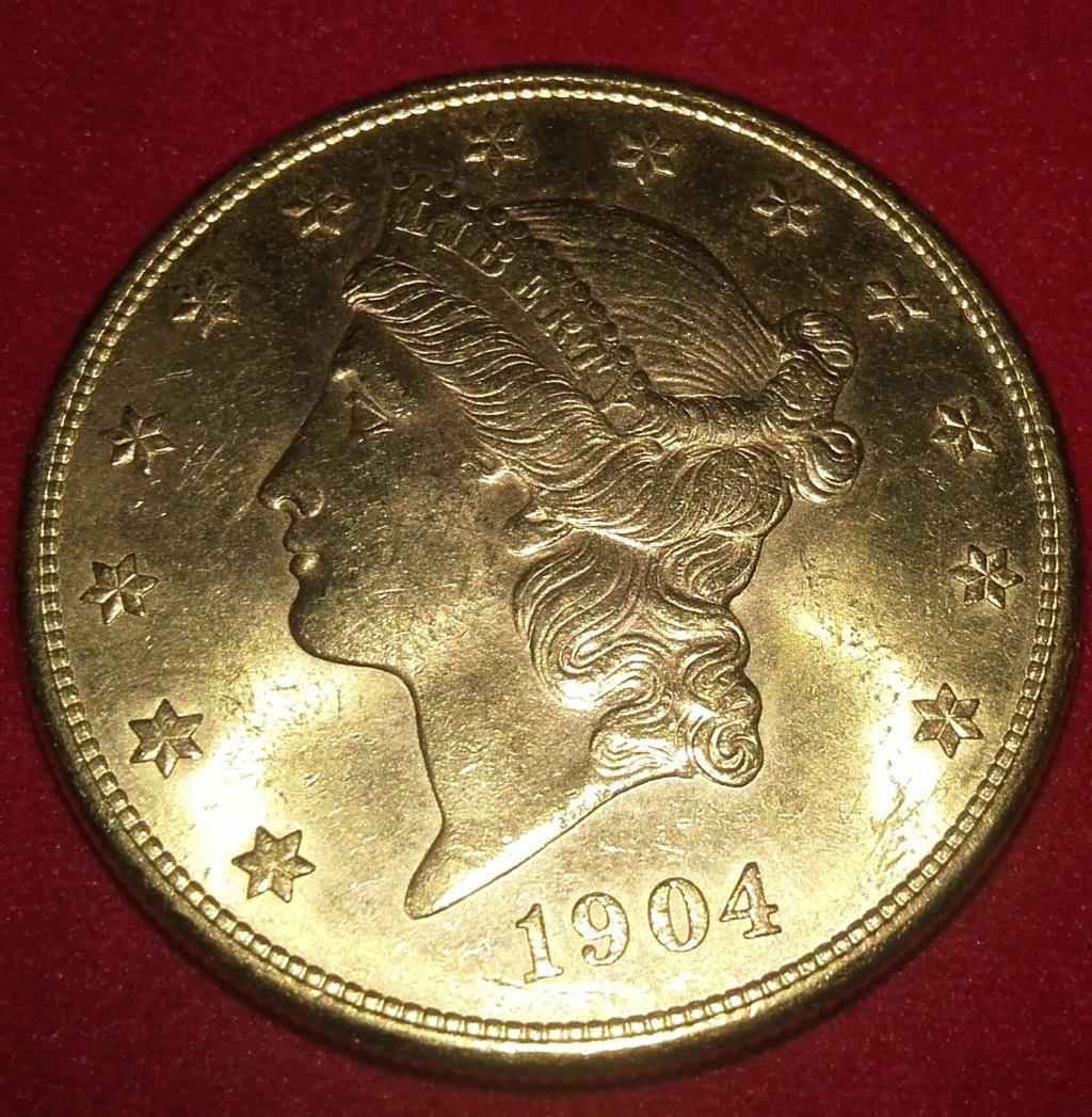 $20 Liberty Head oro 1904 S (San Francisco) 20190119