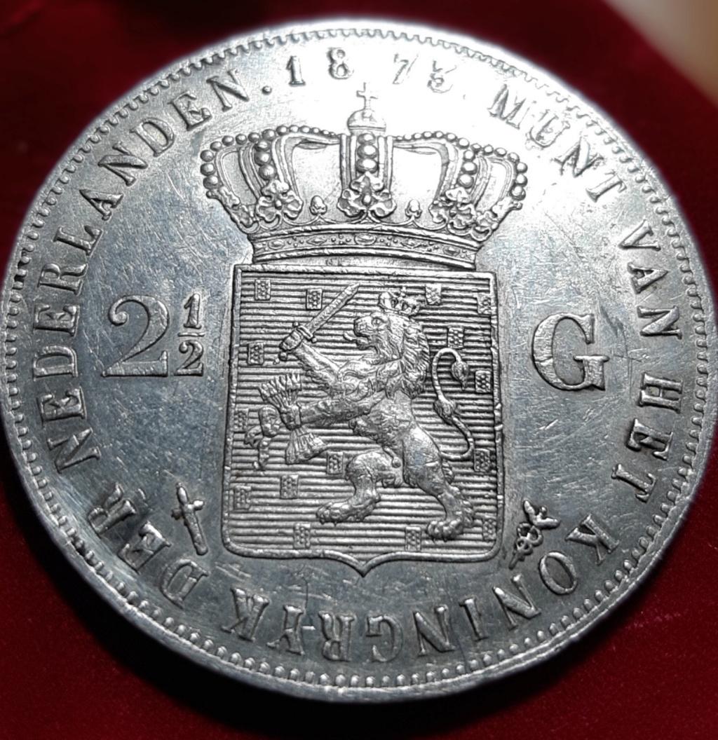 2 1/2 GULDEN 1873 Nederlanden  20190815