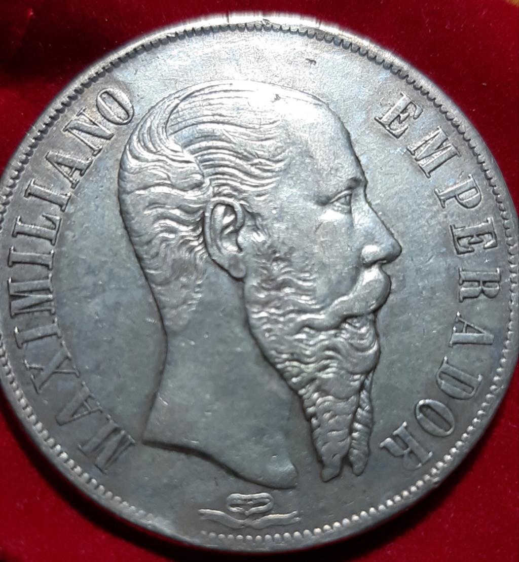 1 PESO MEXICO 1866 MAXIMILIANO EMPERADOR 20190816