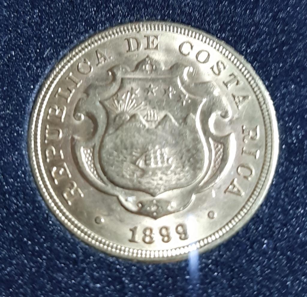 República de Costa Rica - 20 Colones - 1899 - oro  20190824