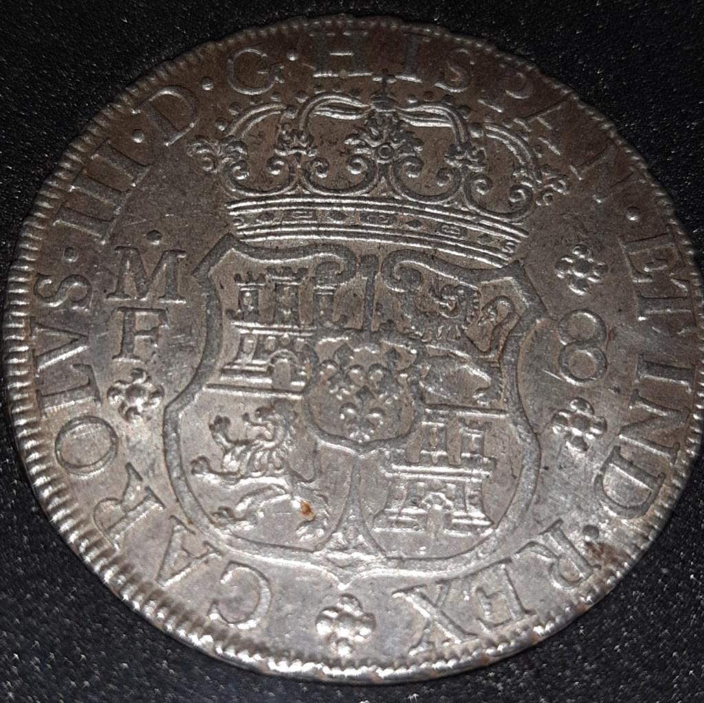 Columnario de 8 reales de 1768, México 20190831