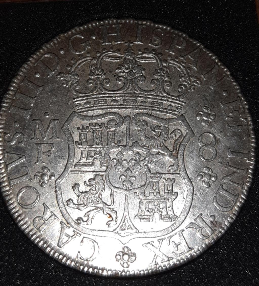 Columnario de 8 reales de 1768, México 20190834