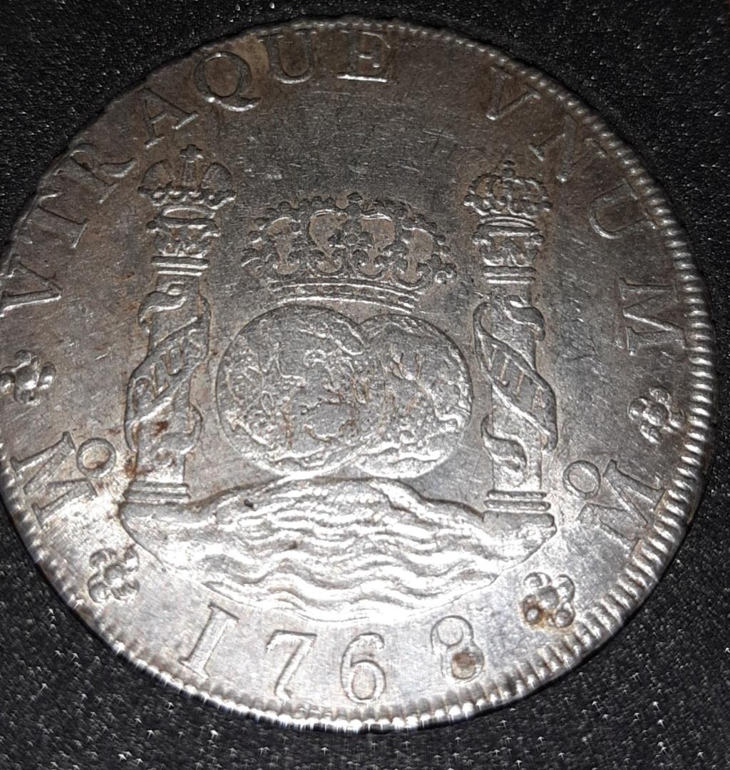 Columnario de 8 reales de 1768, México 20190835