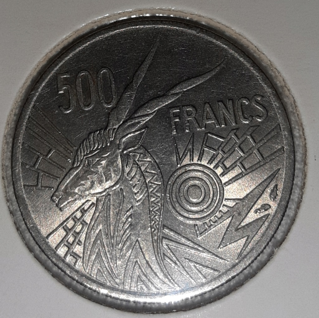 Africa central estados 1976 B - 500 Francos. República Centroafricana 20190855