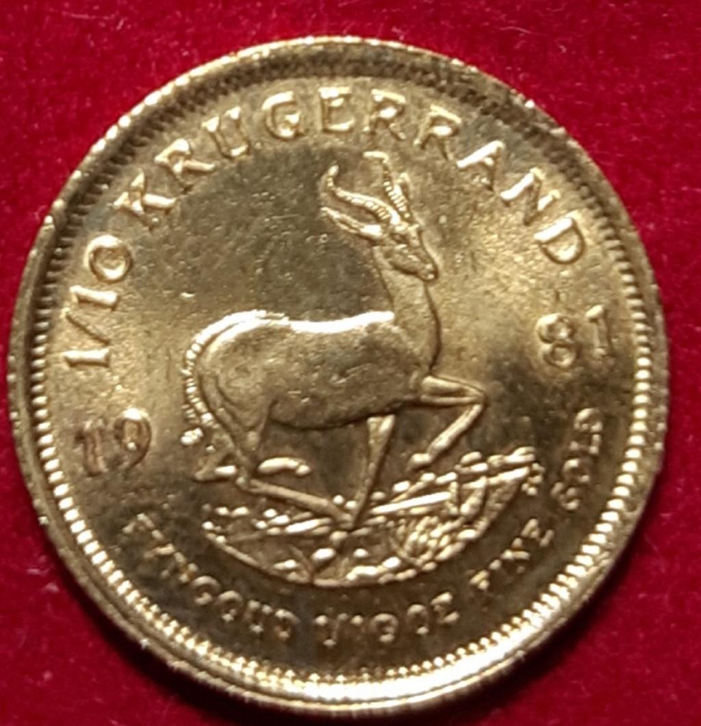 Africa-1/10 onza krugerrand 1981 - Sudáfrica. 20190864