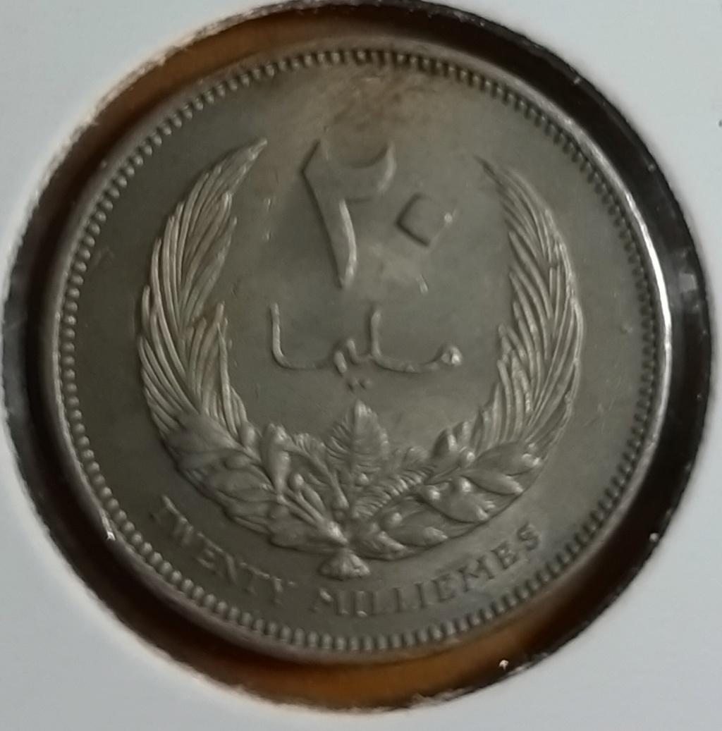 Africa- Lybia 20 milliemes 1965- Idris I 20190867