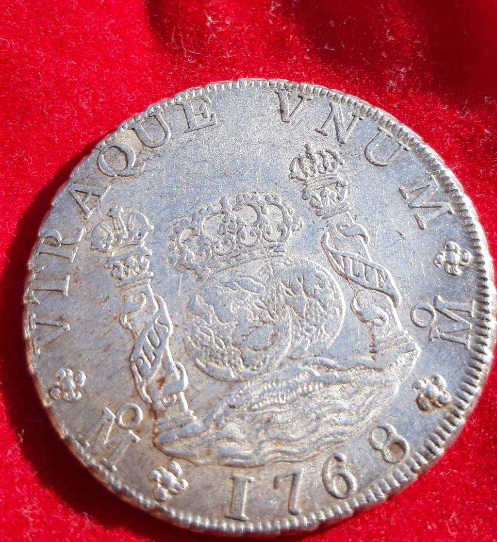 Columnario de 8 reales de 1768, México 20190871