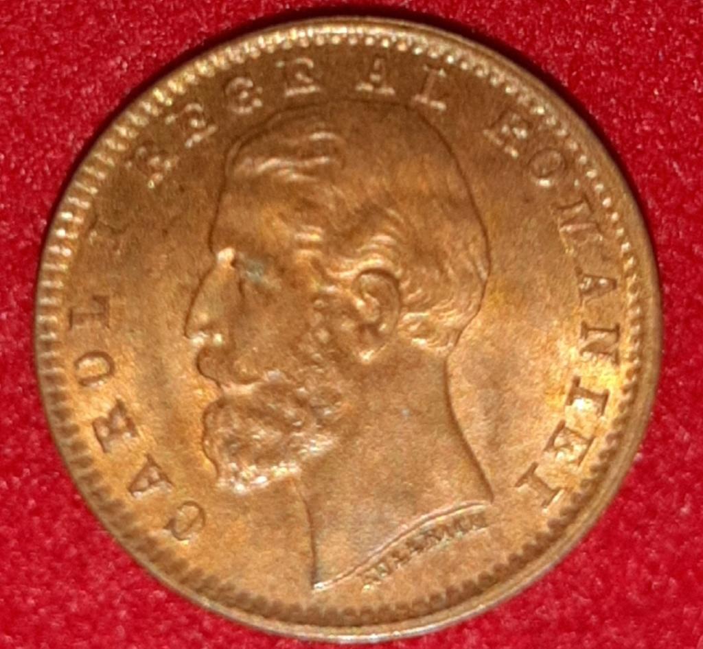 1 BAN  Rumanía Carol I - 1900 - pequeña maravilla 15 mm de bronze. 20190875