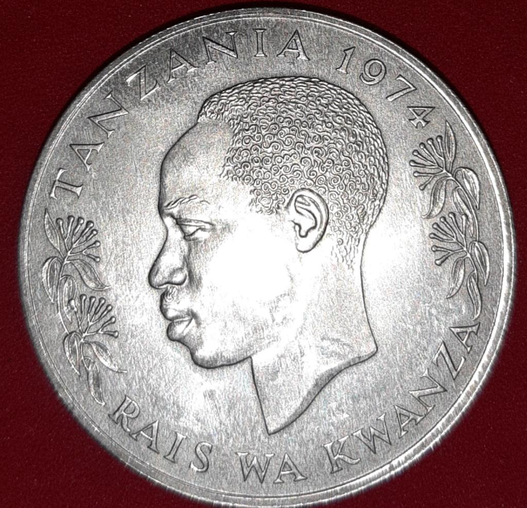 Africa - Tanzania - 5 shillings (chelines) 1974 plata 20190876