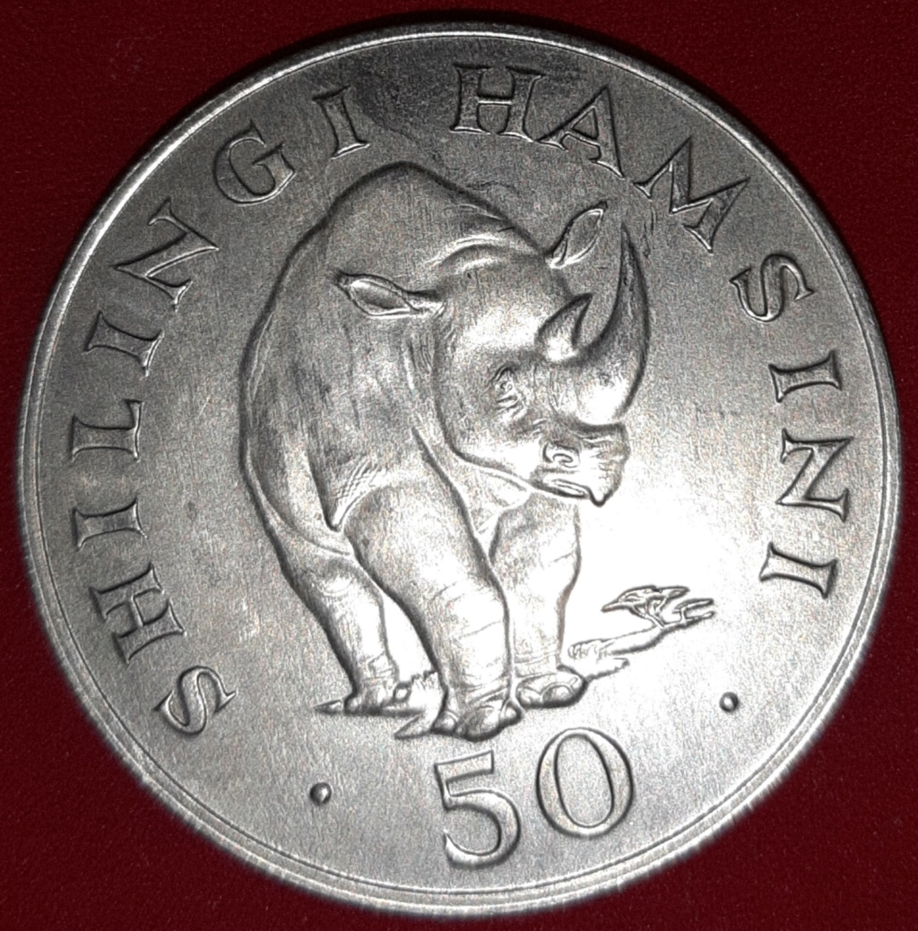 Africa - Tanzania - 5 shillings (chelines) 1974 plata 20190877