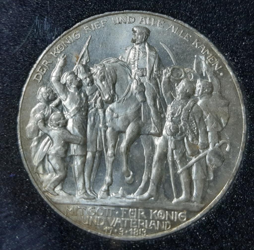 DEUTSCHES REICH-PRUSSIA- DREI MARCH 1913 PLATA 20190879