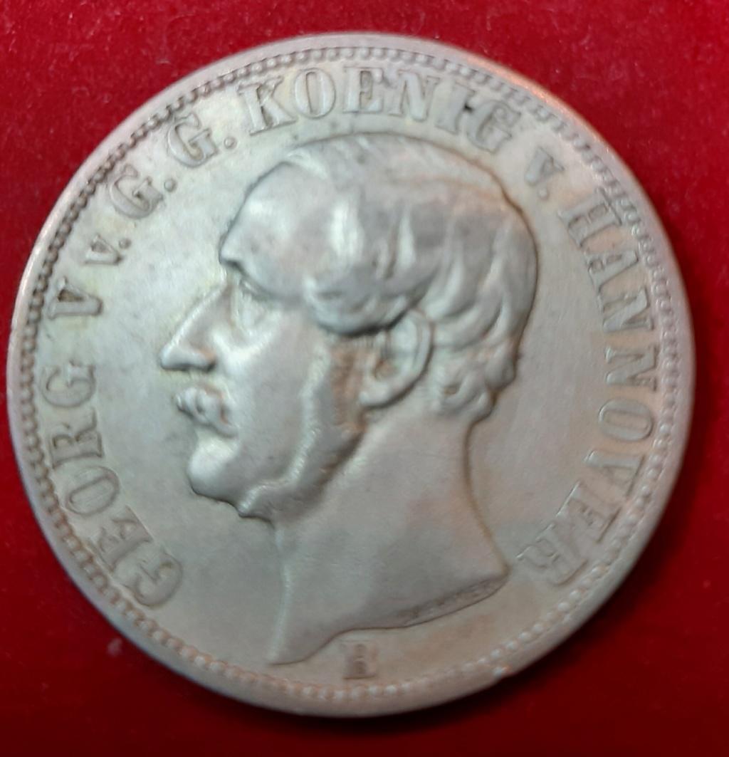 1860 -B Kingdom of Hannover - 1/6 Thaler1- George V de Hannover 20190880