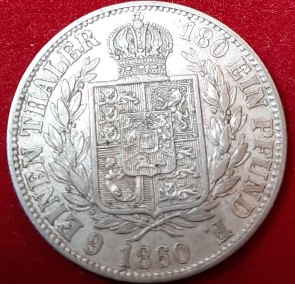 1860 -B Kingdom of Hannover - 1/6 Thaler1- George V de Hannover 20190881