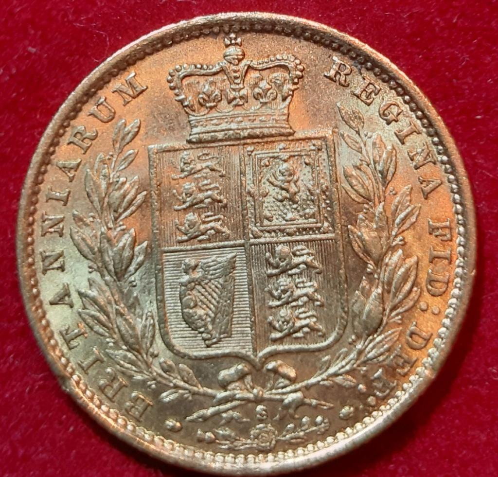 1885 - Soberano - acuñado en Sydeny Australia con el escudo de armas en el reverso- 20190912