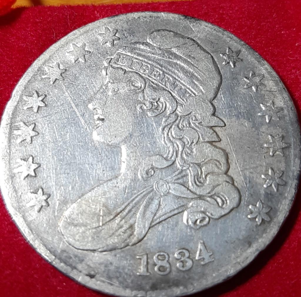 "Estados Unidos 50 cents 1834 ""Capped bust 1/2 dollar"" 20190939"
