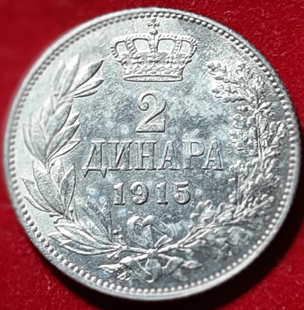 Reino de Serbia 2 dinares 1915 Petar I para Tirant Lo Blanch 20190951